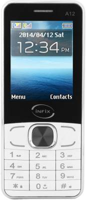Infix A-12 Dual Sim Multimedia 2.4 Inches (White)
