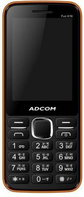 Adcom X16 (Fun) Dual Sim Mobile-Black & Orange (Black, Orange)