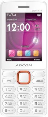 Adcom X17 (TRENDY) Dual Sim Mobile-White & Orange (White, Orange)