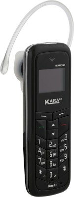 Kara Diamond (Mini Phone Cum Bluetooth Headset)(Black)