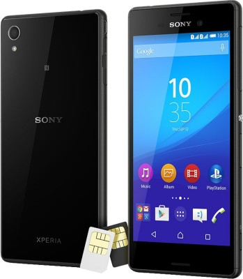 Sony Xperia M4 Aqua Dual (Black, 16 GB)(2 GB RAM) at flipkart