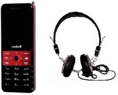 Mobell MOBELL M235 with Envent Headphone (Red, Black)