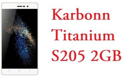 Karbonn Titanimum S205 (5.1 (Lollipop),16GB Internal memory,2GB Ram & Dragontrail Scratch Resistant glass) (White+Golden, 16 GB)