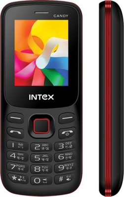 Intex Mobile Candy(Black,Red) 1