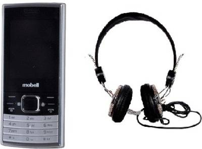 Mobell MOBELL M570 with Envent Headphone (Black)
