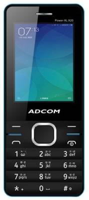 Adcom X20 (POWER XL) Dual Sim Mobile- Black & Blue (Black, Blue)