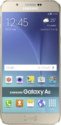 Samsung Galaxy A8 (Gold, 32 GB)(2 GB RAM) at flipkart