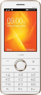 Lava Spark Icon X(White & Gold) 1