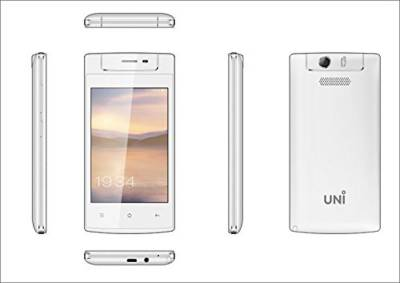 UNI N-6100 Triple SIM Mobile (White)