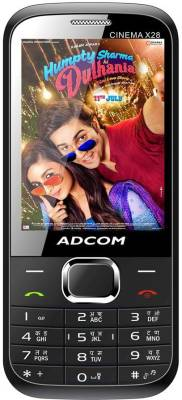 Adcom X28 (CINEMA) Dual Sim Mobile- Black (Black)