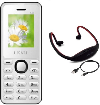 I Kall K66 with MP3/FM Player Neckband(White) 1