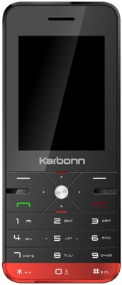 Karbonn K Phone 9 Dual Sim - Black & Red(Black) 1