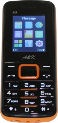 A&K Bar Phone A 3(Black, Orange)