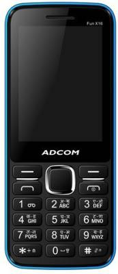 Adcom X16 (Fun) Dual Sim Mobile-Black & Blue (Black, Blue)