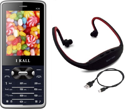 I Kall K36 with MP3/FM Player Neckband(Blue) 1