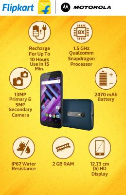 Moto G Turbo Edition (Black, 16 GB)