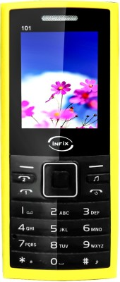 Infix Ultra IFX 101 Dual Sim Multimedia(Black, Yellow)