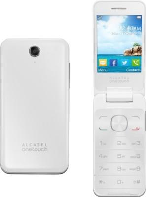 Alcatel 2012D Flip Phone(Pure White)