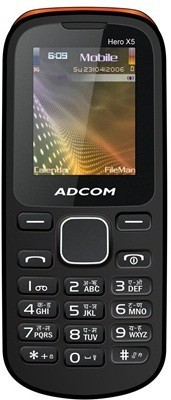 Adcom X5 Dual Sim Mobile-Black & Orange