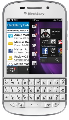 Blackberry Q10 (White, 16 GB)(2 GB RAM)