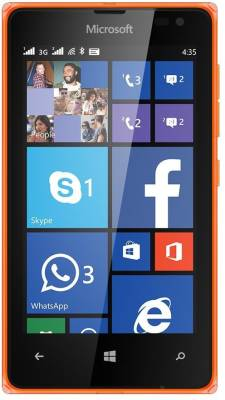 Microsoft Lumia 435 (Bright Orange, 8 GB)