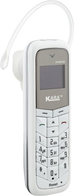 Kara Diamond (Mini Phone Cum Bluetooth Headset)(White)