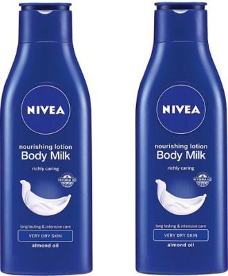 Nivea Nourishing Body Milk Pack of 2(75 ml)