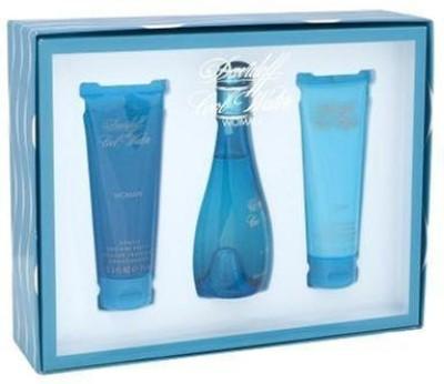 Davidoff Cool WaterZino for Women - 3 Pc Gift Set EDT Spray, 2.5 Gentle Shower Breeze, 2.5 Moisturizing Body Lotion(102 ml)