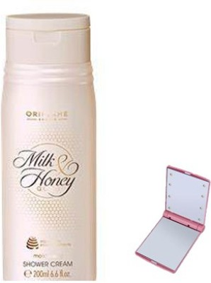 Oriflame Sweden MILK AND HONEY GOLD MOISTURISING SHOWER CREAM WITH SMART POCKET MIRROR(200 ml) at flipkart