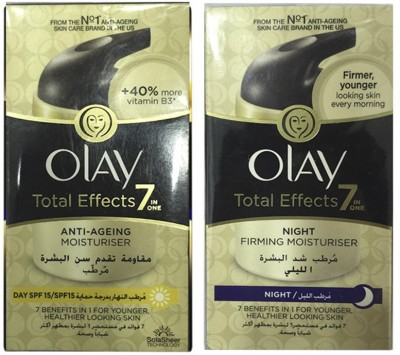Olay Total Effect Day & Night Moisturiser (Made in Poland) Imported (Pack Of 2)(100 ml)