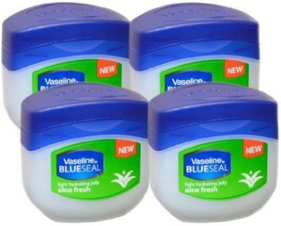 Vaseline BlueSeal Petroleum Light Hydrating Jelly (100ml) with Aloe Fresh (Pack of 4)(102 ml)