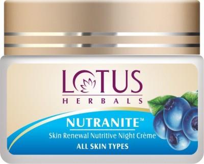 Lotus HERBALS NUTRANITE � Skin Renewal Nutritive Night Cr�me(50 g)  available at flipkart for Rs.364