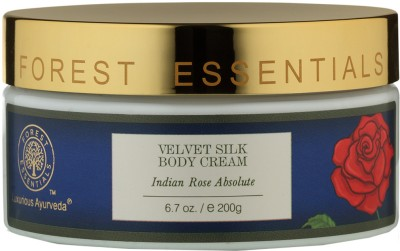 Forest Essentials Velvet Silk Body Cream Indian Rose Absolute(200 g)