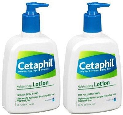 Cetaphil Fragrance Free Moisturizing Lotion, - Bottles (Pack of 2)(480 ml)