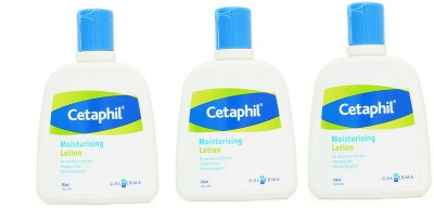 Cetaphil Moisturizing Lotion for sensitive or dry skin - Pack of 3(250 ml)