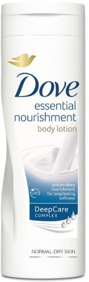 Dove Essential Nourishment Body Lotion Normal-Dry Skin(250 ml)  available at flipkart for Rs.269