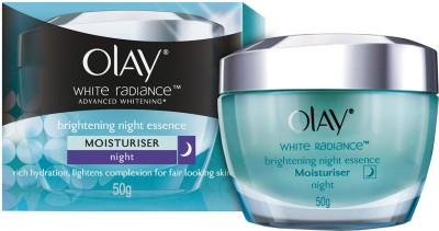 Olay White Radiance Advanced Brightening Night Essence Moisturizer, 50g