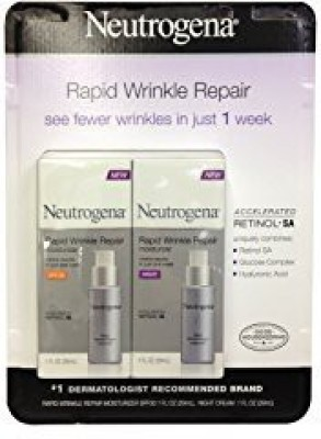 Neutrogena Rapid Wrinkle Repair Combo Pack, Day and Night Moisturizer (total net wt: )(60 ml) at flipkart