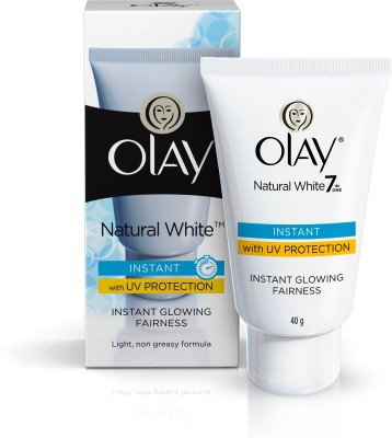 Olay Natural White Instant Glowing Fairness with UV Protection, 40gm