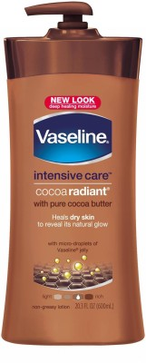 Vaseline Cocoa Radiant Intensive Care Lotion, 600ml