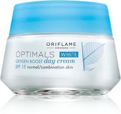 Oriflame Sweden Optimals White Oxygen Boost Day Cream SPF 15 Normal Combination Skin(50 ml)  available at flipkart for Rs.649