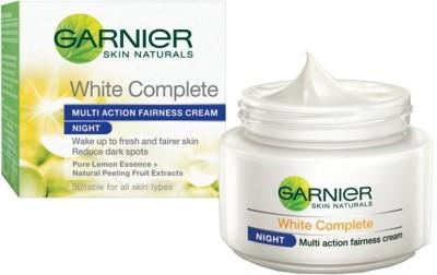 Garnier Skin Naturals White Complete Multi Action Fairness Night Cream(40 g)  available at flipkart for Rs.185