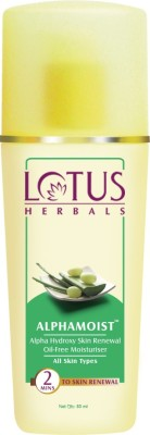 LOTUS HERBALS Alphamoist Alpha Hydroxy Skin Renewal Oil Free Moisturizer(80 ml)