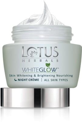 LOTUS HERBALS HERBALS WHITEGLOW Skin Whitening & Brightening Nourishing Night Creme(60 g)