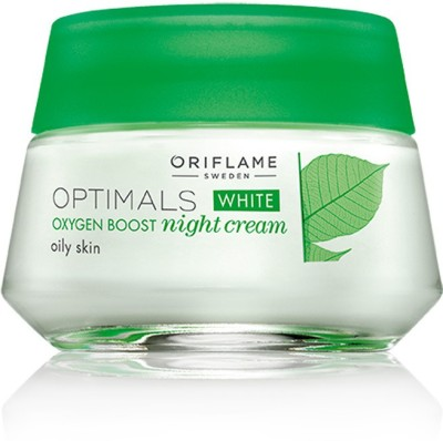 Oriflame Sweden Optimals White Oxygen Boost Night Cream Oily Skin(50 ml)  available at flipkart for Rs.399