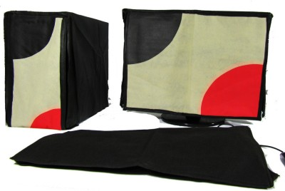 Indian Technology for 22 inch Desktop Dust Cover   22\ Red, Black