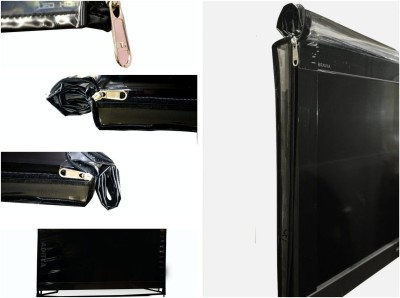 ADITYA Television accessories for 32 inch LED TV SCREEN  - Transparent safety covers with dual zippers T-32(Black)  available at flipkart for Rs.369