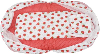 Ole Baby Nylon Infants Jumbo Reversible 2 In 1 Strawberry Mosquito Net(Multicolor) at flipkart