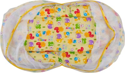 Baby Grow Cotton Infants Animal Print Jumbo Bedding Set with Zipper Mosquito Net(Yellow) at flipkart