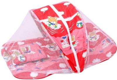 Veena Fabs Nylon Infants BABY BEDDING Mosquito Net(Pink)